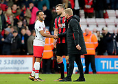 3rd December 2017, Vitality Stadium, Bournemouth, England; EPL Premier League football, Bournemouth versus Southampton; Nathan Redmond of Southampton shakes hands with Bournemouth Manager Eddie Howe at full time