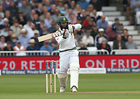 South Africa's Hashim Amla hits a boundary of the bowling of England's Mark Wood and becomes th fifth South African batsman to reach 8000 test runs<br /> <br /> Photographer Stephen White/CameraSport<br /> <br /> Investec Test Series 2017 - Second Test - England v South Africa - Day 1 - Friday 14th July 2017 - Trent Bridge - Nottingham<br /> <br /> World Copyright &copy; 2017 CameraSport. All rights reserved. 43 Linden Ave. Countesthorpe. Leicester. England. LE8 5PG - Tel: +44 (0) 116 277 4147 - admin@camerasport.com - www.camerasport.com