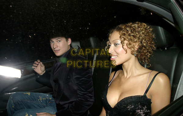 LEE RYAN & GUEST.20th Anniversary Party fo shoe designer Patrick Cox at Nobu, Berkely Street, London, UK..September 20th, 2005.Ref: AH.half length car .www.capitalpictures.com.sales@capitalpictures.com.© Capital Pictures.