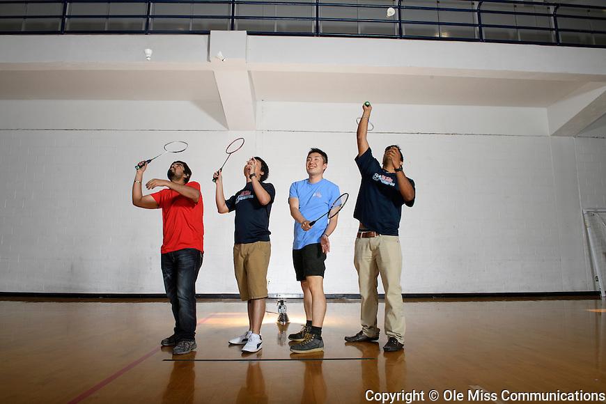 Badminton. Photo by Thomas Graning/Ole Miss Communications