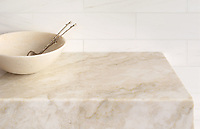 Countertop shown in polished Cloud Nine.