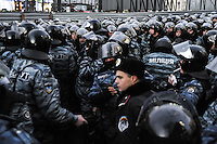 """Figters of the  special force """"Berkut""""  on the European square in Kiev. Ukraine"""