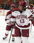 Tyler Moy (Harvard - 2), Greg Gozzo (Harvard - 13) - The Harvard University Crimson defeated the Princeton University Tigers 3-2 on Friday, January 31, 2014, at the Bright-Landry Hockey Center in Cambridge, Massachusetts.
