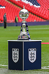 LONDON, ENGLAND - MARCH 29: The FA Trophy before the FA Carlsberg Trophy Final 2015 at Wembley Stadium on March 29, 2054 in London, England. (Photo by Dacid Horn/EAP)