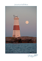 The full moon after sundown on a summer's eve at Jussarö Lighthouse in the Gulf of Finland near Tammisaari.