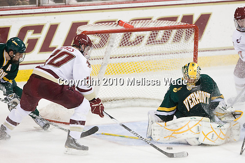 Jimmy Hayes (BC - 10), Rob Madore (Vermont - 29) - The Boston College Eagles defeated the visiting University of Vermont Catamounts 6-0 on Sunday, November 28, 2010, at Conte Forum in Chestnut Hill, Massachusetts.