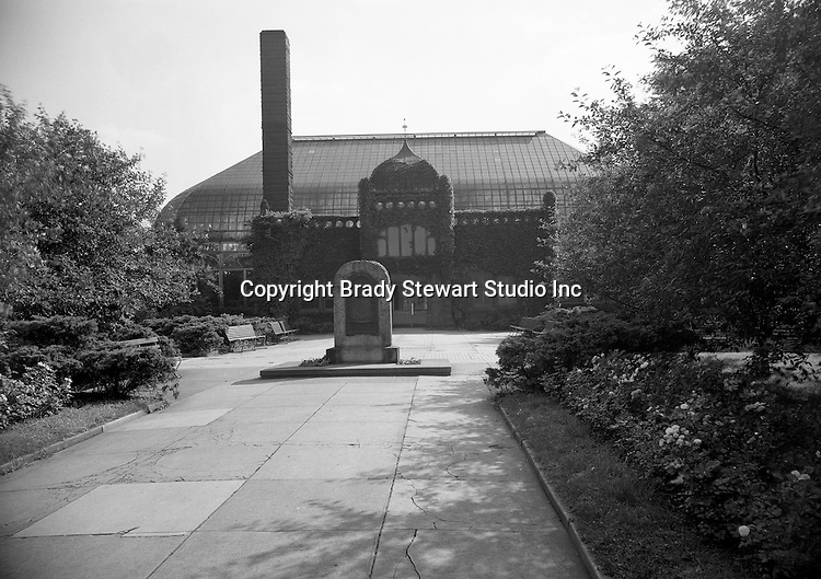 Pittsburgh PA:  The Phipps Conservatory & Gardens were founded in 1893 by steel and real-estate magnate Henry Phipps as a gift to the City of Pittsburgh.  This image was part of a location photography assignment for the Pittsburgh Horticultural Society and George Ketchum - 1947.  The Phipps Conservatory is located in the Oakland section of Pittsburgh.