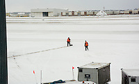 Your job: Shovel the runway when the snowplow isn't running. #JobSecurity DTW