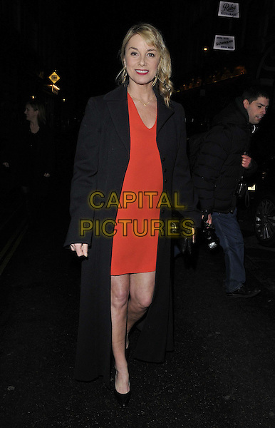LONDON, ENGLAND - JANUARY 29: Tamzin Outhwaite attends the &quot;Di and Viv and Rose&quot; press night, Vaudeville Theatre, The Strand, on Thursday January 29, 2015 in London, England, UK. <br /> CAP/CAN<br /> &copy;Can Nguyen/Capital Pictures
