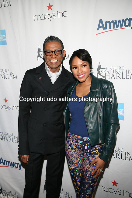 Designer and Honoree B Michael and E! News Correspondents Alicia Quarles Attend The 2013 Skating with the Stars honoring B Michael and Andrea Joyce -A benefit gala for Figure Skating in Harlem Held At Trump Rink, Central Park, NY