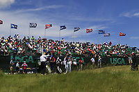 The 1st  tee during Thursday's Round 1 of the 117th U.S. Open Championship 2017 held at Erin Hills, Erin, Wisconsin, USA. 15th June 2017.<br /> Picture: Eoin Clarke | Golffile<br /> <br /> <br /> All photos usage must carry mandatory copyright credit (&copy; Golffile | Eoin Clarke)