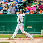 25 July 2017: Vermont Lake Monsters third baseman Will Toffey, a 4th round draft pick for the Oakland Athletics, in action against the Tri-City ValleyCats at Centennial Field in Burlington, Vermont. The Lake Monsters defeated the ValleyCats 11-3 in NY Penn League action. Mandatory Credit: Ed Wolfstein Photo *** RAW (NEF) Image File Available ***