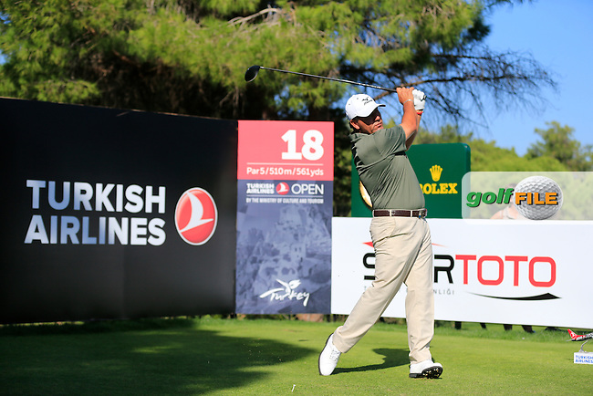 Ricardo GONZALEZ (ARG) during round 3 of the Turkish Airlines Open presented by the Ministry of Tourism and Culture, hosted at the The Montgomerie Maxx Royal,Antalya,Turkey.<br /> Picture: Fran Caffrey www.golffile.ie