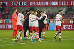 30.11.2019, RheinEnergieStadion, Koeln, GER, 1. FBL, 1.FC Koeln vs. FC Augsburg,<br />  <br /> DFL regulations prohibit any use of photographs as image sequences and/or quasi-video<br /> <br /> im Bild / picture shows: <br /> am Ende des Spiels freuen sich die koelner<br /> <br /> Foto © nordphoto / Meuter