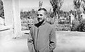Iran 1946 .Qazi Mohammed on the terrace of his house in Mahabad. .Iran 1946.Qazi Mohammed sur la terrasse de sa maison a Mahabad .