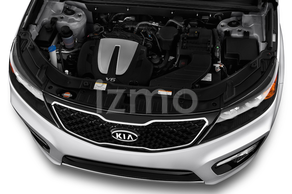 High angle engine detail of a  .2013 KIA Sorento SX
