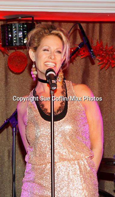 Singer Jodi Stevens performs at New Year's Eve 2016 at The Copacabana, New York City, New York. (Photo by Sue Coflin/Max Photos)  suemax13@optonline.net