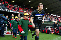 Chris Cook and the rest of the Bath Rugby team run onto the field. Heineken Champions Cup match, between Stade Toulousain and Bath Rugby on January 20, 2019 at the Stade Ernest Wallon in Toulouse, France. Photo by: Patrick Khachfe / Onside Images
