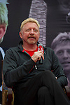 Tennis legend Boris Becker speaks during the Press conference for the opening of Boris Becker Tennis Academy at Mission Hills Resort on 19 March 2016, in Shenzhen, China. Photo by Lucas Schifres / Power Sport Images