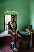 Dr. Sharon Cynthia (33) poses for a portrait at the field office of the project in Adapur village of Raxaul district of Bihar.