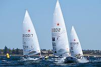 Laser/ Tom Burton<br /> ISAF Sailing World Cup Final - Melbourne<br /> St Kilda sailing precinct, Victoria<br /> Port Phillip Bay Wednesday 7 Dec 2016<br /> &copy; Sport the library / Jeff Crow