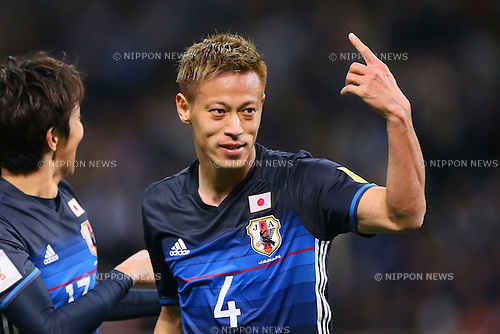 Keisuke Honda (JPN), MARCH 29, 2016 - Football / Soccer : FIFA World Cup Russia 2018 Asian Qualifier Second Round Group E match between Japan - Syria at Saitama Stadium 2002, Saitama, Japan. (Photo by YUTAKA/AFLO SPORT)