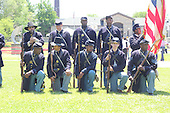 Parcicipants were transported back in time to the 1869 Battle of Nashville Saturday afternoon as the DuSable Museum hosted the 2nd annual Civil War Family Day in Washington Park.<br /> <br /> Union troops.