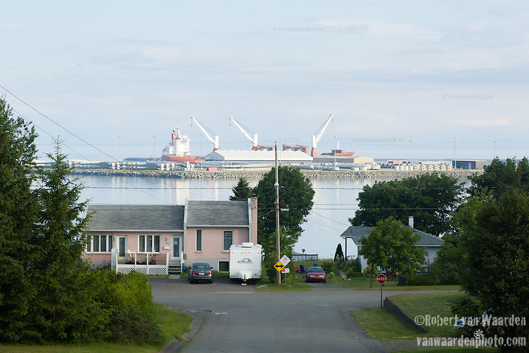 The port of Cacouna in Eastern Quebec is one of the points that the proposed Energy East pipeline would off load oil or diluted bitumen for export to other countries. The port would have to be drastically expanded and many residents are worried about the impact on whales, particulary Belugas, and the tourism industry. (Credit: Robert van Waarden - http://alongthepipeline.com)