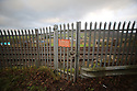 "A close gate and fence is seen on the northern side of the main Belfast to Dublin railway line on the Irish Border, South Armagh, Northern Ireland, 18 Jan 2019. The Irish prime minister, Leo Varadkar, has raised the prospect of uniformed police or soldiers being deployed to the border with Northern Ireland (Jan25, 2019) in the event of a chaotic and disorderly Brexit. In the most explicit warning yet of the consequences of a no-deal Brexit he said in a worst-case scenario, a hard border could ""involve people in uniform and it may involve the need, for example, for cameras, physical infrastructure, possibly a police presence, or an army presence to back it up"". Photo/Paul McErlane"