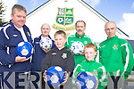 STARS: Listowel Celtic coaches and players who are looking for new players and the stars of the future for their soccer academy, front l-r: Brian Godfrey, Benedict Godfrey, Raymond Collins. Back l-r: Liam Kennedy, Dominic Scanlon, Larry Collins.