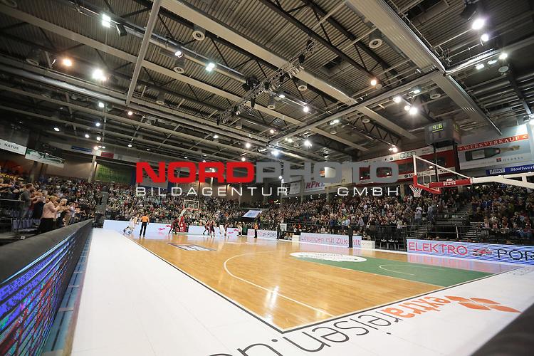 08.12.2013, Arena Trier, Trier, TBB Trier vs. S.oliver Baskets W&radic;ľrzburg, im Bild gut gef&radic;ľllte Arena Trier<br /> <br /> <br /> Foto &not;&copy; nordphoto / Schwarz *** Local Caption ***
