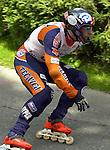 1. Inline Downhill Weltmeisterschaft, Zell am See (Austria) Gewinner der Silbermedaille Stefano Galliazzo (Italy)