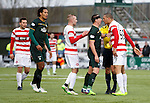 Scott Brown and Mikael Antoine-Curier have some aggro