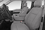 Front Seat View of 2015 Ford F-150 XLT Super Cab 2 Door Truck Stock Photo