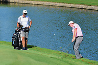 Brandt Snedeker (USA) chips on to 18 during round 2 of the Dean &amp; Deluca Invitational, at The Colonial, Ft. Worth, Texas, USA. 5/26/2017.<br /> Picture: Golffile | Ken Murray<br /> <br /> <br /> All photo usage must carry mandatory copyright credit (&copy; Golffile | Ken Murray)