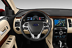 Car pictures of steering wheel view of a 2019 Ford Flex Limited 5 Door SUV