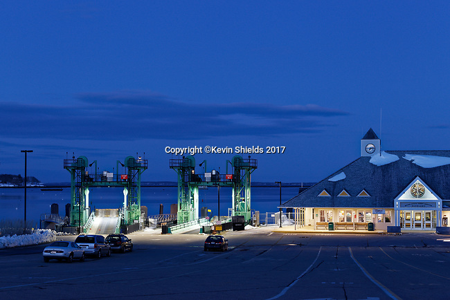 Maine State Ferry Service terminal, Rockland, Knox County, Maine, USA