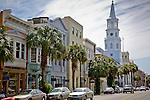 St Michael's Church on Broad St, downtown Charleston, SC