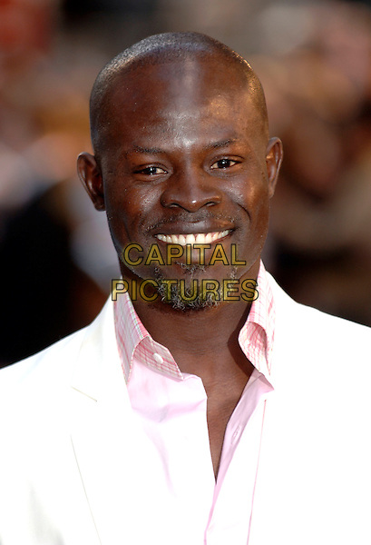 "DJIMON HOUNSOU.""The Island"" European film premiere at the Odeon cinema, Leicester Square, London.7 August 2005.headshot portrait goatee facial hair.www.capitalpictures.com.sales@capitalpictures.com.©Capital Pictures"