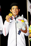 Keita Nakajima (JPN), <br /> AUGUST 26, 2018 - Golf : <br /> Men's  Individual Medal Ceremony <br /> at Pondok Indah Golf & Country Club <br /> during the 2018 Jakarta Palembang Asian Games <br /> in Jakarta, Indonesia. <br /> (Photo by Naoki Morita/AFLO SPORT)