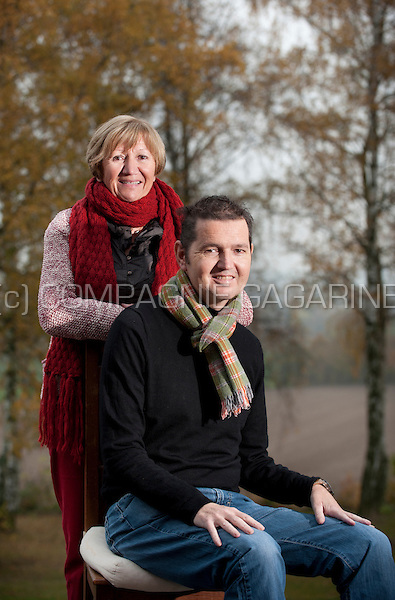 Rik Snoeckx and his mother, who donated her kidney to her son (Belgium, 19/11/2014)