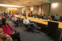 San Francisco, CA - Tuesday, July 1, 2014:  In downtown San Francisco employees filled the boardroom at Kilpatrick Townsend & Stockton, LLP to watch the USA vs. Belgium World Cup Round of 16 game.