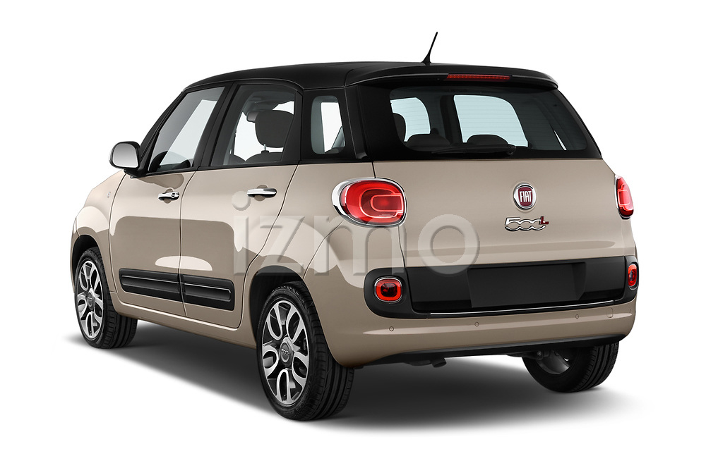 Car pictures of rear three quarter view of 2017 Fiat 500L Lounge 5 Door Mini MPV Angular Rear