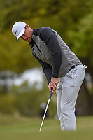 Lucas Bjerregaard (DEN) watches his birdie attempt on 1 during day 5 of the WGC Dell Match Play, at the Austin Country Club, Austin, Texas, USA. 3/31/2019.<br /> Picture: Golffile | Ken Murray<br /> <br /> <br /> All photo usage must carry mandatory copyright credit (&copy; Golffile | Ken Murray)