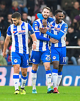 Nick Powell of Wigan Athletic (m) celebrates scoring the second goal with Gavin Massey of Wigan Athletic (11)  during AFC Bournemouth vs Wigan Athletic, Emirates FA Cup Football at the Vitality Stadium on 6th January 2018