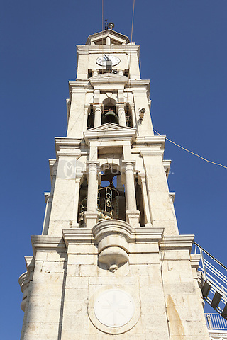 Bell tower, Dormition of the Virgin Mary Church, (Assumption of Mary Orthodox Church), Pyrgi, Chios, Greece<br /> CAP/MEL<br /> &copy;MEL/Capital Pictures /MediaPunch ***NORTH AND SOUTH AMERICA ONLY***