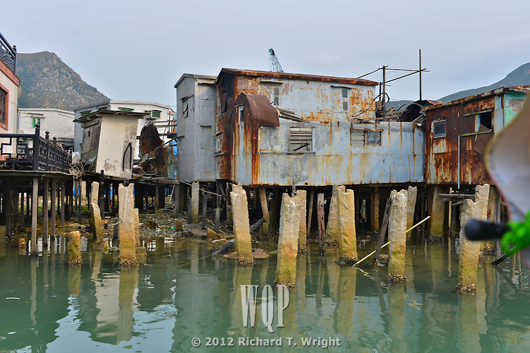 Hong Kong, Lantau Island, Big Buddha  Tai O, on Lantau Island near Hong Kong is a fishing village built on stilts on a tidal estuary.