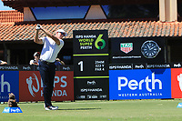 Richard Green (AUS) in action on the 1st during Round 1 of the ISPS Handa World Super 6 Perth at Lake Karrinyup Country Club on the Thursday 8th February 2018.<br /> Picture:  Thos Caffrey / www.golffile.ie<br /> <br /> All photo usage must carry mandatory copyright credit (&copy; Golffile | Thos Caffrey)