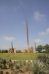 Israel, Tel Aviv. The Cacti garden in Hayarkon park