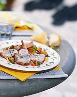 """Europe/Italie/Ombrie/Orvieto : Côtelettes d'agneau au lard """"di colonnata"""" - Recette d'Enzo et Emiliano Santoni du restaurant """"Giglio d'Oro"""""""